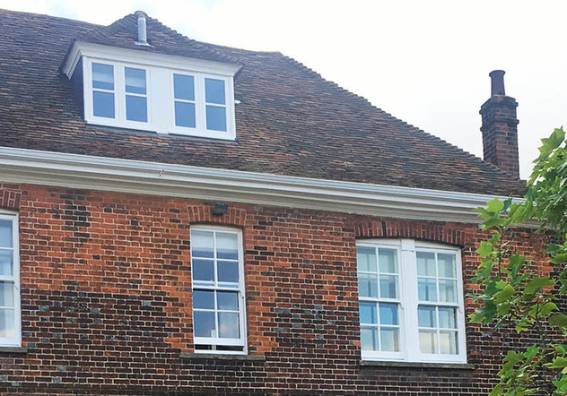 Extruded continuous guttering has not joins and no external brackets, giving it a sleek and stylish appearance.