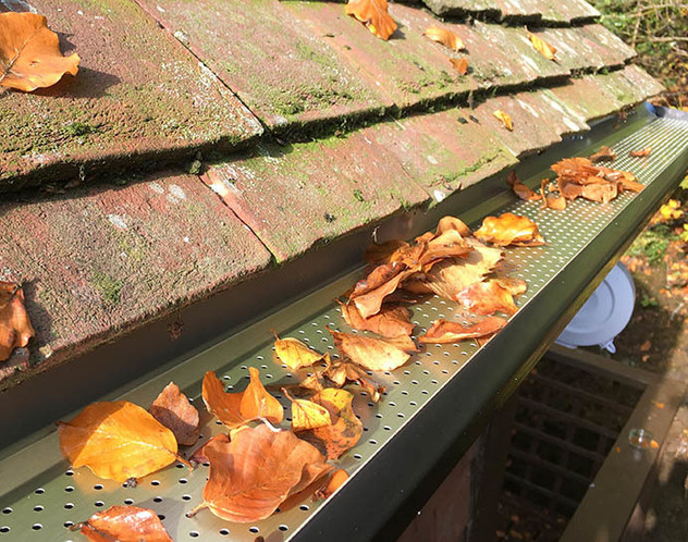 Aluminium gutters can be fitted with a leaf-guard, making them much easier to clean.